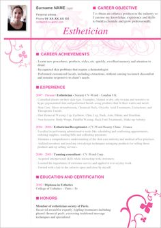 Free Cosmetology Resume Sample  HttpJobresumesampleCom