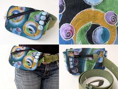 Travelers Belted Hipster Pouch - PDF Sewing Pattern - What a fun and nice fabric...