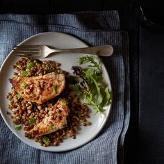 Garam masala chicken with lentils