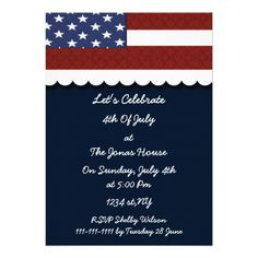 July 4th Holiday party Invitation