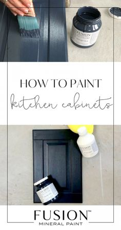 Learn how to paint melamine kitchen cabinets with Fusion Mineral Paint - Ikea cabinets are often melamine and you can update with Fusion. Tips, video tutorial and more about how to makeover your kitchen or bathroom cabinets with paint. Kitchen Paint, Diy Kitchen, Kitchen Decor, Decorating Kitchen, Kitchen Ideas, How To Paint Kitchen Cabinets White, Smart Kitchen, Awesome Kitchen, Green Kitchen