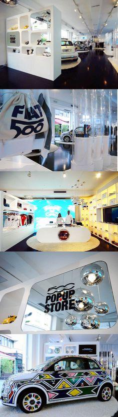 Pop Up Shop Design / Retail Design / Semi Permanent Retail Fixtures / VM / Retail Display / POP UP! FIAT 500 POP.UP STORE, Milan-Italy.
