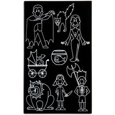 Vampire Family Auto Stickers. Buwhhahaha. Once placed on car, only drive at night or risk vehicle turning into ash.