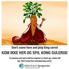 Kom ikke her og spil kong gulerod. Words To Use, Copenhagen, Language, Instagram, English, Danish Language, Languages, English Language, Language Arts