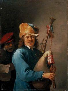 "СЕРИИ ""ПЯТЬ ЧУВСТВ"" David The Younger Teniers Series The Five Senses - Hearing (Слух). 1640 г."