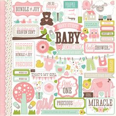 Echo Park - Bundle of Joy Collection - Girl - 12 x 12 Cardstock Stickers - Elements at Scrapbook.com $2.99
