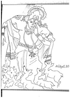Indian Mythological Sketches & Doodles〽