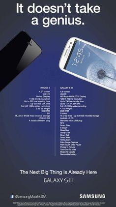 Samsung attacks Apple with iPhone 5 vs Galaxy S III ad