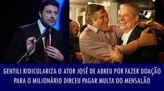 Gentili ridiculariza o ator José de Abreu por fazer doação para o milion...