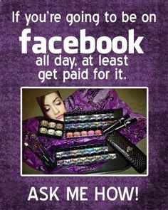 Get Paid to be on Facebook-#Younique presenter #mineral makeup Join my team for only $99 (which includes a ton of awesome makeup) and host online parties from your computer. Get paid DAILY and unlimited earning potential with one of the fastest growing companies! Join my team today at: www.youniqueprodu...