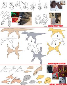 Making patterns and sewing toes by IsisMasshiro.deviantart.com on @deviantART