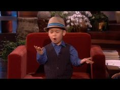 Four-Year-Old Sings on Ellen's show cutest thing ever Youtube Sensation, The Ellen Show, Cute Little Boys, Four Year Old, I Love Music, Cutest Thing Ever, Bruno Mars, Have A Laugh, Cute Gif