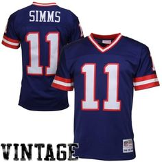 Phil Simms New York Giants Mitchell & Ness Retired Player Vintage Replica Jersey - Royal Blue, Men's, Size: XL Phil Simms, Redskins Fans, Michael Vick, New York Giants Football, Nfc East, Nfl Gear, Vintage Jerseys, Washington Redskins, Nice Tops