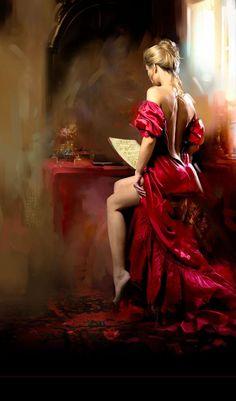 Fashion,Beauty,Landscape,Home Designe,Sexy Girls. Woman Painting, Sexy Painting, Beautiful Paintings, Deep Paintings, Romantic Paintings, Monet Paintings, Erotic Art, Figurative Art, Female Art