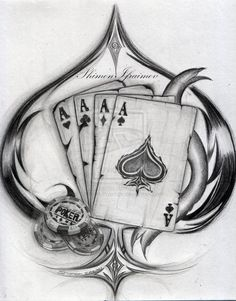 Poker Tattoo Ideas | Aces by Shimon-Ifraimov | Cards & Dice | Pinterest