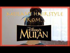 Mulan's Hairstyle from Disney's Mulan! Disney Hairstyles, Disney Princess Hairstyles, Little Girl Hairstyles, Bun Hairstyles, Belage Hair, Elsa Hair, Hair Buns, Disney Nerd, Disney Love