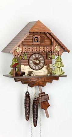 Reloj cucú Casa de la selva negra. Fabricante: Kammerer Uhren Hekas Altura: 27 cm. / 10,6 pulg. Ancho: 24 cm. / 9,4 pulg. Profundidad: 16 cm. / 6,3 pulg. Color: Nogal Peso bruto: 3,5 kg