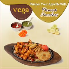 Satiate Your Cravings For Veg Delights with Our Paneer Sizzlers.