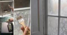 Looking for privacy? Cover your window with lace!