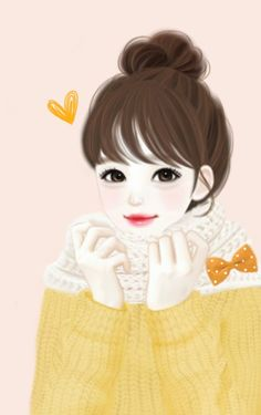 Ꮛиαкɛί ★ I really like these girly girl art pieces. Anime Korea, Korean Anime, Kawaii Girl, Kawaii Anime, Girly M, Girly Girl, Lovely Girl Image, Cute Girl Wallpaper, Black Wallpaper
