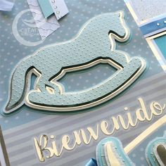 Hermoso Club Green 40mm Bebé Azul y Plata Brillo una cinta especial niño