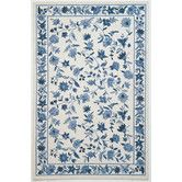 Found it at Wayfair - Colonial Ivory/Blue Floral Area Rug