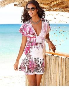 Women's Tops - Urban Beach Print Tunic