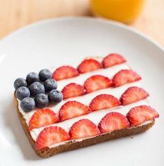 Family Fun Magazine- cream cheese & berries on toast!