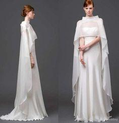 2015 White Long Bridal Cape Bridal Accessory Bridal Prom Party Jacket Chiffon Bridal Wrap Wedding Events Bridal Accessory Custom Made