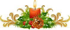 Christmas Clip Art For The Holiday Season: Candle Border