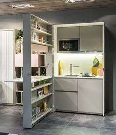 Genius Unfolding Kitchen Tucks Neatly Into Small Spaces | Dwell