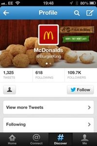 i find this hilarious:P Mcdonalds, Burger King, Social Media Humor, Twitter, Dog Food Recipes, Profile, Hacks, Breakfast, Hilarious