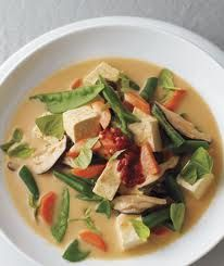 Thai red curry soup with tofu and whole meal noodle from Patrick Holford - one of my favourites