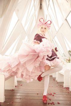 *Closet cosplay connoisseur* The best of: Cosplay. Harajuku Japan, Harajuku Fashion, Lolita Fashion, Lolita Cosplay, Cosplay Girls, Japanese Fashion, Asian Fashion, Thigh High Outfits, Touhou Cosplay