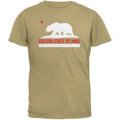 California Republic Golden State Of Mind Tan Adult T-Shirt