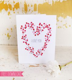 lemon squeezy: Day 6: FIVE free valentine's card downloads