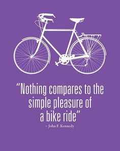 Bike = simple pleasure on 2 wheels.