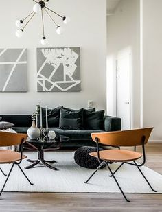 Stockholm apartment - beautiful simple styling
