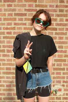 Sky Ferreira pulls off that all-too-rare layered shorts look.