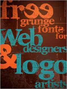 105 free grunge fonts for designers