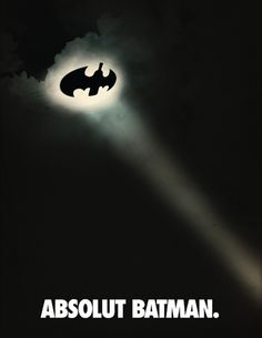 Beautiful, inspirational and creative images from Piccsy. Absolut Vodka, Clever Advertising, Advertising Poster, Ad Design, Graphic Design, Batman, Great Ads, Ads Creative, Ad Art