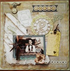 """This is for the June """"Scraplift the person before you"""" challenge, I am lifting Scrapjunki's Grade 8 Induction layout My Scrapbook, Layouts, Smile, In This Moment, Gallery, Frame, Inspiration, Vintage, Art"""