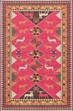 Pink Santa Fe Area Rug