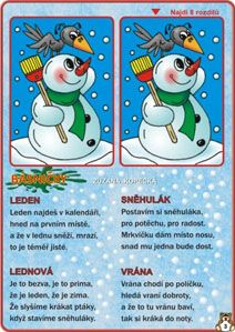 Sněhulák- rozdíly+ básně Aa School, School Clubs, Teaching Posts, Paper Birds, Preschool Worksheets, Winter Sports, Anchor Charts, Winter Time, Games For Kids