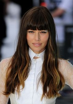 Chocolate brown with bangs