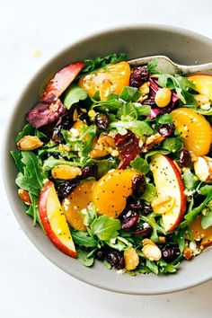 Candied Almond & Mandarin Salad with an Orange Poppy seed Dressing