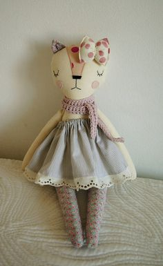 Cat Handmade Doll stuffed toy plush cat stuffed animal