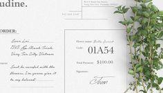 Claudine floral shop Brand identity - see more on be.net/elrendir