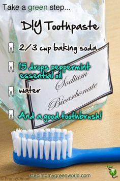 DIY toothpaste.
