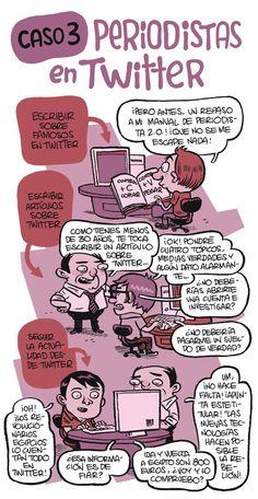 Periodistas en Twitter #infografia #infographic #socialmedia #humor